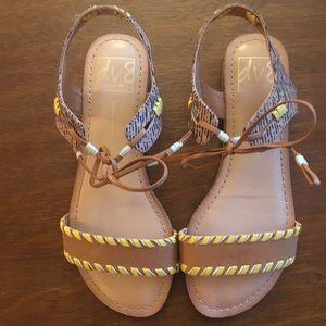 DV sandals, never worn, boho style.